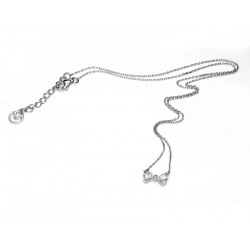 VICEROY SILVER BOW NECKLACE-2004C000-30