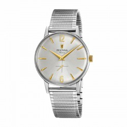 FESTINA EXTRA SILVER STAINLESS STEEL WATCH-F20250/2