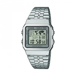 CASIO DIGITAL SILVER WATCH-A500WEA-7EF