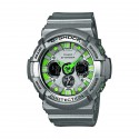 CASIO G-SHOCK SILVER GREEN WATCH-GA-200SH-8AER