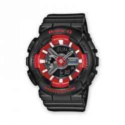 CASIO BABY-G BLACK RED WATCH-BA-110SN-1AER