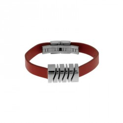 VICEROY STAINLESS STEEL LEATHER BRACELET-2136P01019