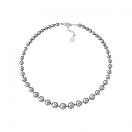 MAJORICA WOMEN'S GREY PEARLS NECKLACE-14710.03.2