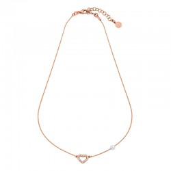 MAJORICA WOMEN'S HEART SILVER ROSÉ NECKLACE-15785.01.7.000.010.1