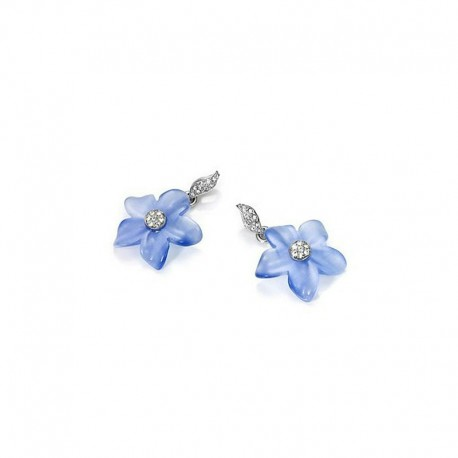 VICEROY BLUE FLOWER SILVER EARRINGS-1061E000-93