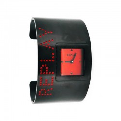 REPLAY WOMEN'S LEATHER RED WATCH-RU7503R7