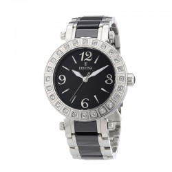 FESTINA WOMEN'S CERAMIC BLACK WATCH-F16643/2