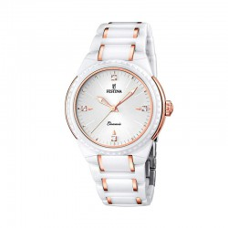 FESTINA WOMEN'S CERAMIC WHITE WATCH-F16698/5