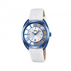 LOTUS WOMEN'S WHITE LEATHER WATCH-18253/1