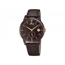 LOTUS MEN'S BROWN LEATHER WATCH-18363/1