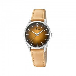 LOTUS WOMEN'S BROWN LEATHER WATCH-18406/3